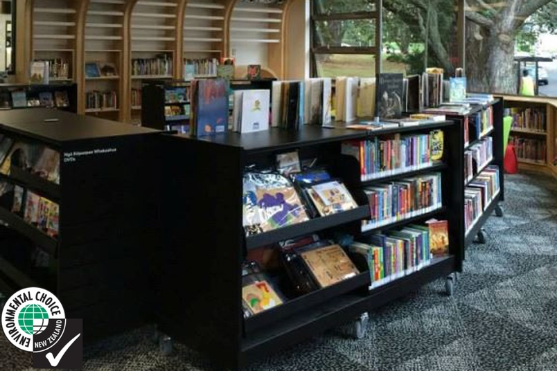 Rollaway shelving in the Devonport library