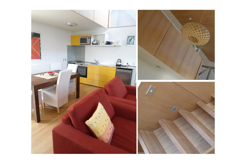 Interior plywood panels finished by speedbrush in Resene Aquaclear