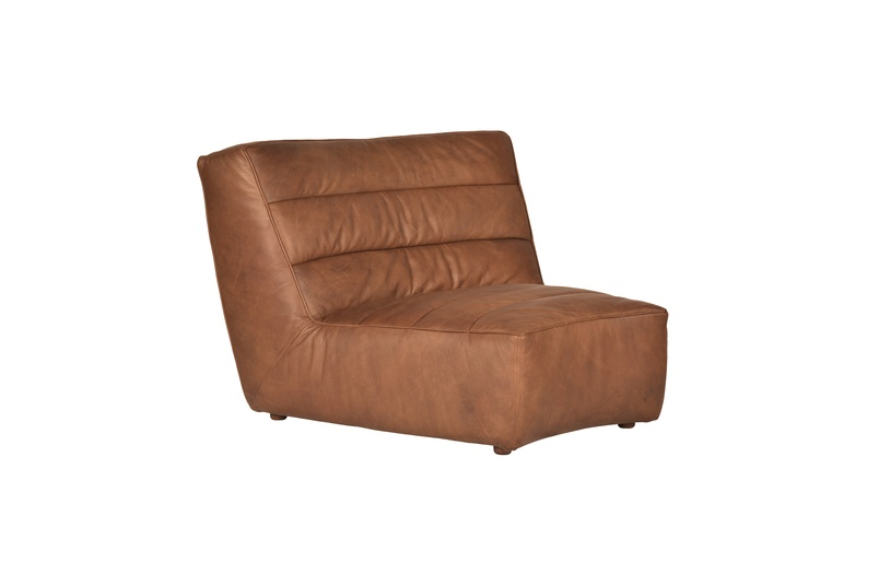 The sofa is available in a variety of beautiful, vintaged, full-grain leathers