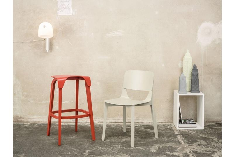 Leaf bar stool and Leaf chair.
