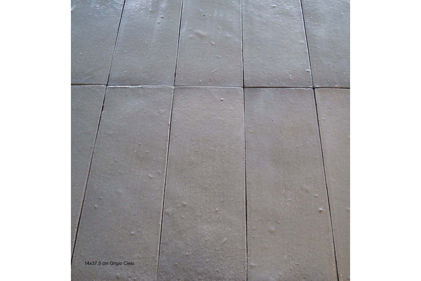 Each Climatica Ceramiche Tre piu' uno terracotta tile is individually pressed into moulds.