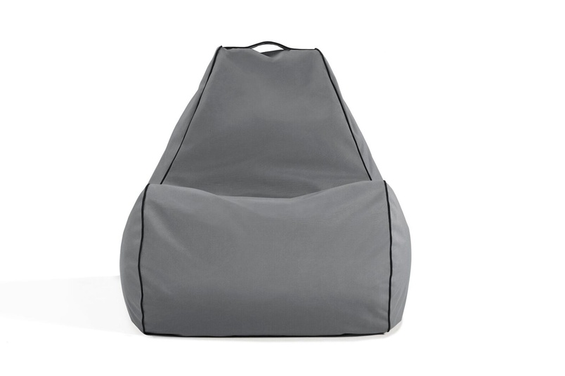 Tulum bean bag chair (outdoor/charcoal grey).
